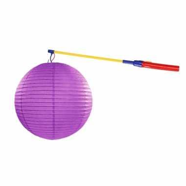 Camping sint maarten lampionset paars 35 cm kopen