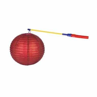 Camping sint maarten lampionset rood 25 cm kopen