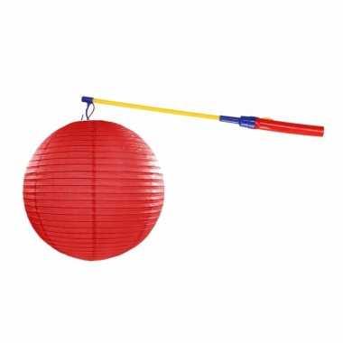 Camping sint maarten lampionset rood 35 cm kopen