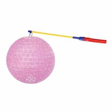 Camping sint maarten lampionset roze 35 cm kopen