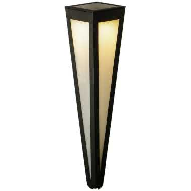Camping solar tuinlamp prikspot pilaar zwart op zonne energie 58 cm kopen