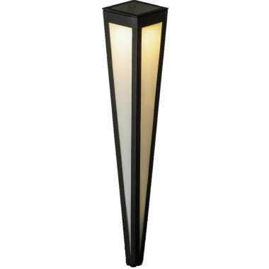 Camping solar tuinlamp prikspot pilaar zwart op zonne energie 75 cm kopen