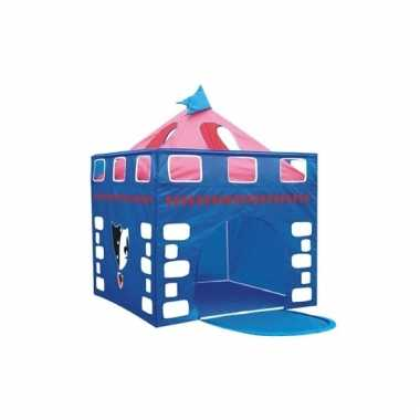 Camping speelgoed tent blauw kasteel kopen