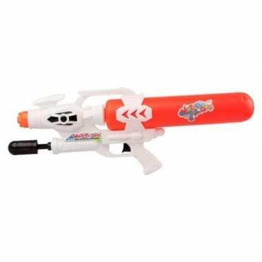 Camping speelgoed waterpistool met pomp wit/rood 56 cm kopen