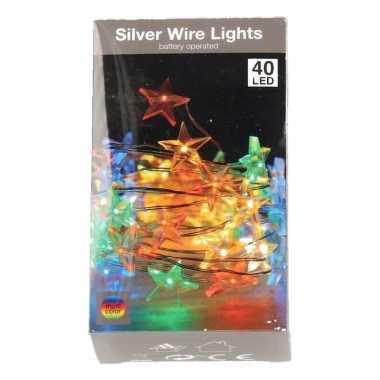 Camping sterren lichtsnoer op batterij 50 gekleurde lampjes kopen