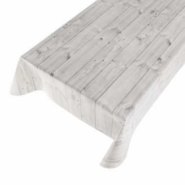 Camping tafelzeil met houtmotief grijs 140 x 240 cm kopen