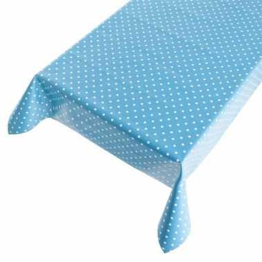 Camping tafelzeil polkadot blauw 140 x 170 cm kopen