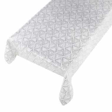 Camping talfelzeil wit/zwart met grafisch motief 140 x 240 cm kopen