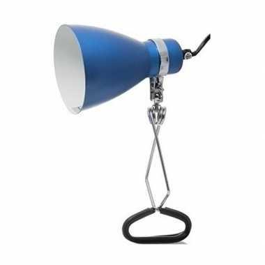 Camping tijdelijke lamp/klemlamp blauw 11 x 28 cm kopen