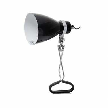 Camping tijdelijke lamp/klemlamp zwart 11 x 28 cm kopen