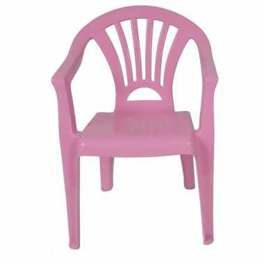 Camping tuinstoeltje roze plastic 37 x 31 x 51 cm voor kinderen kopen