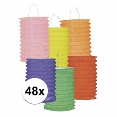 Camping twaalf gekleurde lampionnetjes kopen