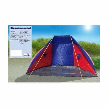 Camping  Windscherm strandtent rood blauw kopen