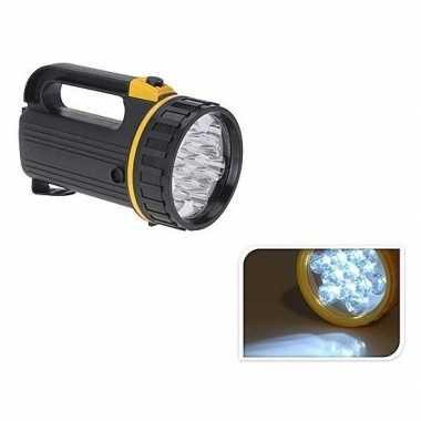 Camping zaklamp zwart met led verlichting 20 cm kopen