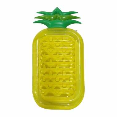 Camping zwembad/strand luchtbed ananas 195 cm kopen