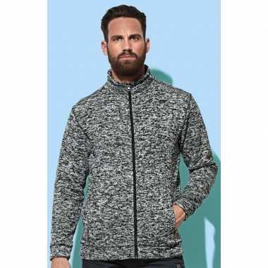 Donker grijze fleece camping vesten voor heren kopen