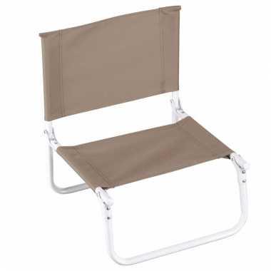 Opvouwbare campingstoel beige kopen