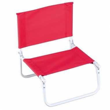 Opvouwbare campingstoel rood kopen