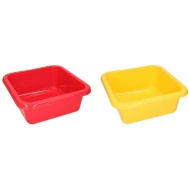 Rode en gele camping afwasbak 15 l kopen
