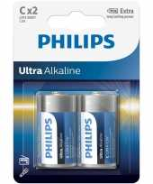 Camping 2x philips ultra alkaline batterijen lr14 c 1 5 v kopen