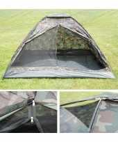 Camping 3 persoons camouflage tent kopen