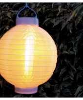 Camping 3x stuks luxe solar lampion lampionnen wit met realistisch vlameffect 20 cm kopen