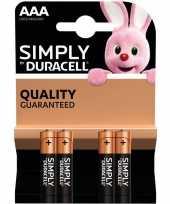 Camping 4x duracell aaa simply batterijen alkaline lr03 mn2400 1 5 v kopen
