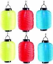 Camping 6x stuks ronde solar lampionnen 35 x 20 cm kopen