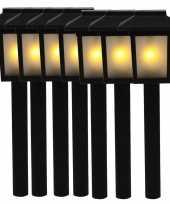 Camping 7x tuinlamp fakkel tuinverlichting met vlam effect 34 5 cm kopen