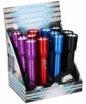 Camping aluminium led zaklampje rood 20 cm kopen
