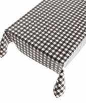Camping blauw tafellaken met zwarte ruitjes 140 x 240 cm kopen