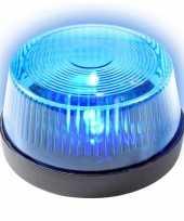 Camping blauwe politie led zwaailamp zwaailicht met sirene 10 cm kopen