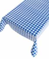Camping blauwe ruit tafellaken 140 x 240 cm kopen