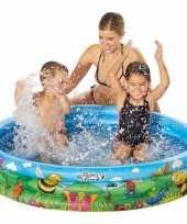 Camping buitenspeelgoed zwembaden blauw bloemen rond 122 x 23 cm voor jongens meisjes kinderen kopen