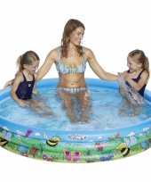 Camping buitenspeelgoed zwembaden blauw bloemen rond 178 x 30 cm voor jongens meisjes kinderen en dames heren volwassenen kopen