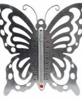 Camping buitenthermometer vlinder metaal 20 cm kopen