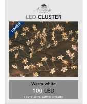 Camping cluster draadverlichting met timer 100 sterren op batterij kopen