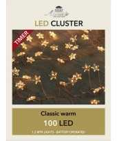 Camping cluster draadverlichting met timer 100 sterren op batterij wit kopen