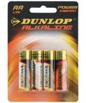Camping dunlop aa batterijen alkaline 4 stuks kopen