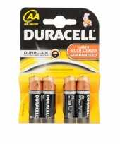 Camping duracell duralock aa batterijen 4 stuks kopen