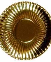 Camping gouden kartonnen borden 29 cm kopen