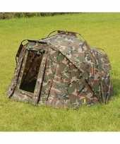 Camping karpertent met legerprint kopen
