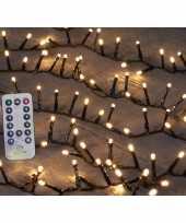 Camping kerstverlichting afstandsbediening warm wit buiten 500 lampjes kopen