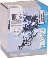 Camping kerstverlichting op batterijen inclusief afstandsbediening helder koel wit 100 lichtjes kope