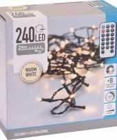 Camping kerstverlichting op batterijen inclusief afstandsbediening warm wit 480 lichtjes kopen