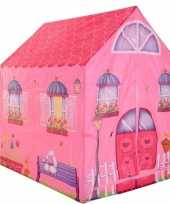 Camping kinderkamer speeltent roze huis 201 cm kopen
