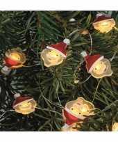 Camping lichtsnoeren met kerstmannetjes inclusief timer op batterijen 230 cm kopen