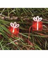 Camping lichtsnoeren met rode cadeautjes inclusief timer op batterijen 230 cm kopen