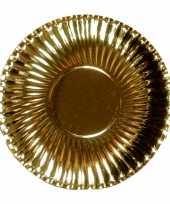 Camping metallic gouden barbecue borden 23 cm kopen