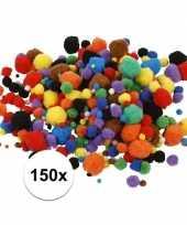 Camping multi kleur decoratieve pompons 15 40 mm 150 kopen